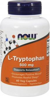 Аминокислота Now Foods L-Триптофан 500 мг 60 гелевых капсул (733739001665)