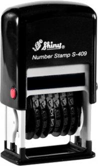 Мини-нумератор Shiny S-409 4 мм черный корпус (4710850104099)