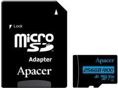 Apacer microSDXC 256GB UHS-I U3 V30 + SD адаптер (AP256GMCSX10U7-R)