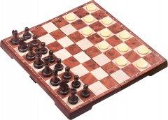 Магнитная настольная игра UB 2 в 1 Шахматы + шашки 31 х 31 см (4856-С) (2000999555299)