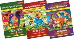 Набор цветного картона и бумаги Апельсин А4 Премиум Картон 9 л+Бумага 12 л+Бумага 14 л (НКПА4-9-12-14)