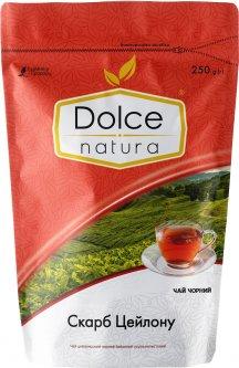 Чай цейлонский черный байховый Dolce Natura цельнолистовой Сокровище Цейлона 250 г (4820093482622)