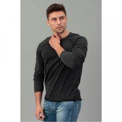 Пуловер Tom Tailor Denim темно сірий, Розмір XL
