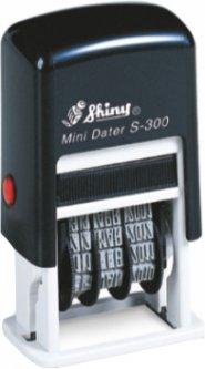 Мини-датер Shiny S-300 Анг. 3 мм черный корпус (4710850203006)