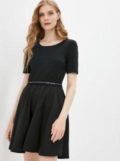 Платье Calvin Klein Jeans Logo Elastic Dress J20J216275-BEH M Черное (8719854096122)
