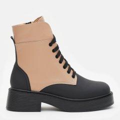 Ботинки LeoModa 21225/11 39 25 см Черный/Светло-рыжий