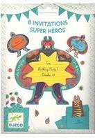 Набор бумажных пригласительных Djeco Супергерои (DJ04785) (3070900047853)