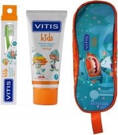 Набор Dentaid Vitis Kids Гель-паста 50 мл + щетка + пенал (8427426058606)