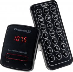 FM-трансмиттер Grand-X 79GRX, AUX, USB 0.5A, SD card, 3.5 мм mini-jack (79GRX)