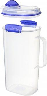 Кувшин Sistema Klip It пластиковый Blue 2 л (1420)