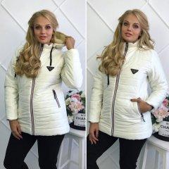 """Жіноча куртка на синтепоні """"Аляска"""" 46 білий"""