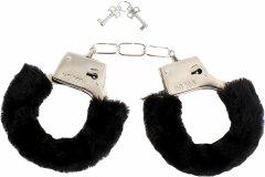 Меховые наручники любимым Naughty Nights Черные (2000992397636)