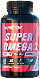 Жирные кислоты Vansiton SUPER OMEGA 3 60 капсул (4820106591983)