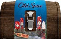 Подарочный набор для мужчин Old Spice Treasure Chest Твердый дезодорант 50 мл + Аэрозольный дезодорант 150 мл + Гель для душа Deep Sea 250 мл + Лосьон после бритья Captain 100 мл (8006540413845)