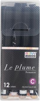 Набор меловых маркеров Marvy Le Plume Brush Телесные оттенки 12 шт (0752481303650)