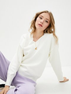 Пуловер Sewel JW845210000 46-48 Белый (Sew2000000285405)