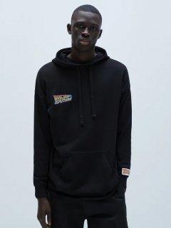 Худи Zara 2654/403/800 M Черное с принтом (02654403800033)
