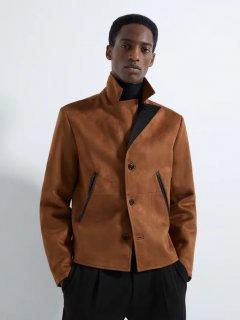 Куртка из искусственной кожи Zara 3548/362/704 XL Коричневая (03548362704053)