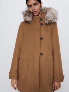 Пальто Zara 8073/238/704 XS Бежевое (08073238704011)