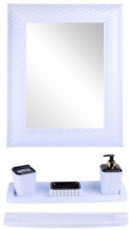 Набор для ванной VIOLET HOUSE Роттанг White 0543