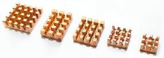 Медные радиаторы для миникомпьютера Raspberry PI RA603 5 шт