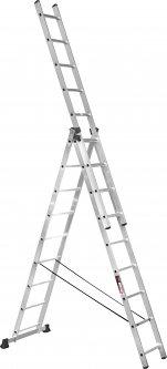 Алюминиевая трехсекционная лестница Stark SVHR3x9 3х9 ступеней (525380504)