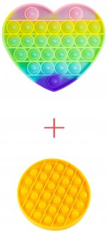 Набор Sibelly Сердце Pop It Glow in Dark + Круг Mono Yellow (SB-PPIT-HRT-GD-CRCL-YL) (9869205469163)