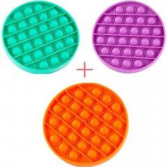 Набор Sibelly Pop It Круг Mono Mint + Orange + Violet (SB-PPIT-CRCL-MNT-OR-VLT) (9869205469217)