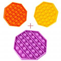Набор Sibelly Pop It Восьмиугольник Mono Orange + Violet + Yellow (SB-PPIT-OCT-OR-VLT-YL) (9869205469248)