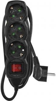 Сетевой удлинитель Emos PC1321 3 розетки 1.5 м Black
