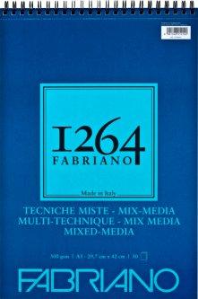 Альбом Fabriano 1264Mix Media А3 300г/м2на спирали30 листов (8001348212102)