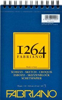 Альбомдля рисунка и эскизовFabriano 1264А5 90г/м2на спирали60 листов Слоновая кость (8001348212027)