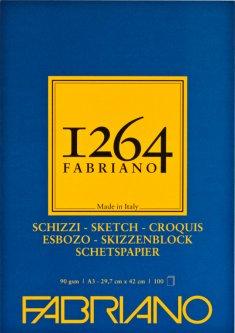 Склейка для рисунков и эскизовFabriano 1264 А3 90г/м2 100 листов Слоновая кость (8001348211990)