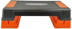 Степ-платформа USA Style LEXFIT 63х25х24(13) см Черно-оранжевая (LKSP-1007)
