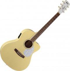 Гитара электроакустическая Cort Jade Classic Pastel Yellow Open Pore (JADE Classic PYOP w/bag)