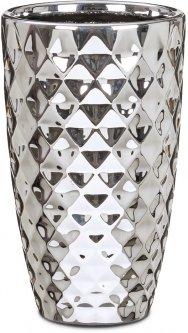 """Кашпо для цветов Scheurich Mirror Silver 20"""" керамика Зеркальный (4002477622224)"""