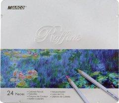 Карандаши цветные Marco Raffine 24 цвета в металлическом пенале (7100-24TN)