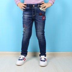 Джинси на флісі, для дівчинки S&D (109) Розмір 3, 98 см Синій