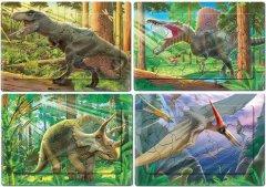 Набор головоломок-пазлов Київська Фабрика Іграшок Динозавры 8 шт (4820121187635)