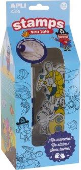 Набор детских печатей штампов ApliKids Море (000016813) (8410782168133)