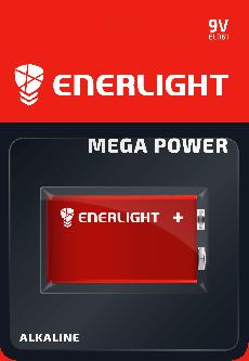 Батарейка Enerlight Mega Power 9V/6LR61 1 шт (90220101)