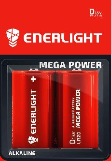 Батарейка Enerlight Mega Power D/RL20 2 шт (90200102)