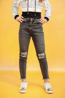Джинси A-yugi Jeans 146 см Темно-сірий (2125000655123)