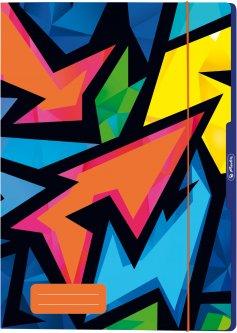 Папка картонная на резинке Herlitz А4 Neon Art (50027996)