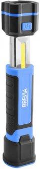 Телескопическая инспекционная лампа Brevia LED 3W COB + 1W LED 300lm, 2000mAh, microUSB (11340)