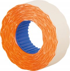 Этикет-лента Economix 22 x 12 мм 1000 шт/уп 10 рул. Оранжевая (E21303-06)