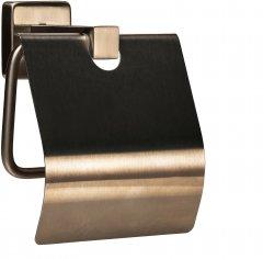 Держатель для туалетной бумаги GLOBUS LUX SQ9410 с крышкой нержавейка SUS304
