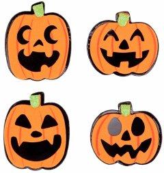 Набор наклеек Yes! Fun Хэллоуин Веселые тыквы 12 шт (973707)