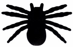 Набор пластиковых пауков Yes! Fun Хэллоуин 11.5х7 см 4 шт Черные (973683)