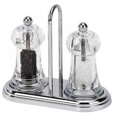 Набор мельниц для соли и перца Peugeot Brasserie Set с подставкой 11 см (19051)